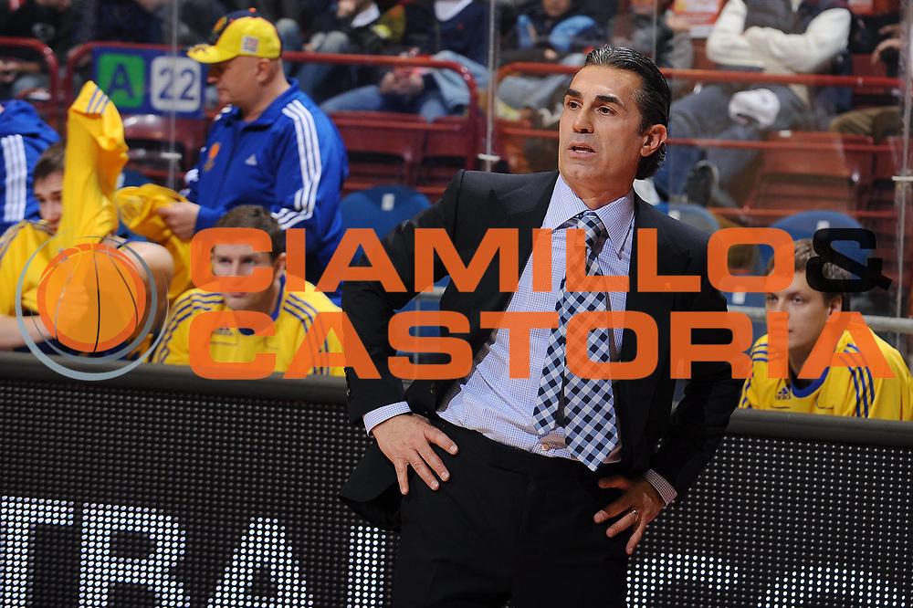 DESCRIZIONE : Milano Eurolega 2009-10 Armani Jeans Milano BC Khimki<br /> GIOCATORE : Sergio Scariolo coach<br /> SQUADRA : BC Khimki<br /> EVENTO : Eurolega 2009-2010<br /> GARA : Armani Jeans Milano BC Khimki<br /> DATA : 12/11/2009<br /> CATEGORIA : ritratto<br /> SPORT : Pallacanestro<br /> AUTORE : Agenzia Ciamillo-Castoria/A.Dealberto<br /> Galleria : Eurolega 2009-2010<br /> Fotonotizia : Milano Eurolega 2009-10 Armani Jeans Milano BC Khimki<br /> Predefinita :