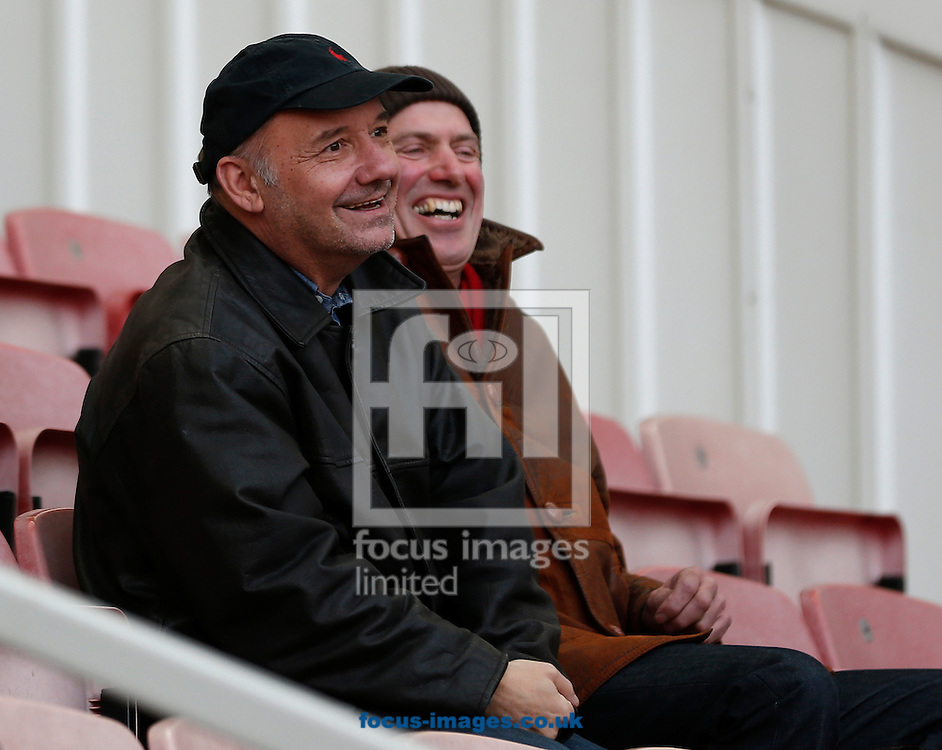 Middlesbrough fan Bob Mortimer (l) prior to the Premier League match at the Riverside Stadium, Middlesbrough<br /> Picture by Simon Moore/Focus Images Ltd 07807 671782<br /> 29/10/2016