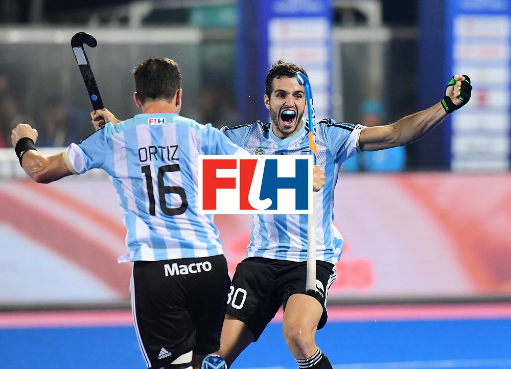 Odisha Men's Hockey World League Final Bhubaneswar 2017<br /> Match id:22<br /> Argentina v Australia Final<br /> Foto: Agustin Bugallo (Arg)  scored 1-1<br /> COPYRIGHT WORLDSPORTPICS FRANK UIJLENBROEK
