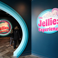The Jellies Experience exhibit entrance at the Monterey Bay Aquarium, which is located on Cannery Row in Monterey, California, on Friday July 13, 2012.(AP Photo/Alex Menendez)