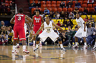 November 27th, 2010:  Anchorage, Alaska - Arizona State's Jamelle McMillan (10) on defense in the Sun Devil's 58-67 loss to St. John's in the championship game of the Great Alaska Shootout.  McMillan is the son of former NBA Seattle Super Sonics player and current Portland Trailblazer's coach Nate McMillan.