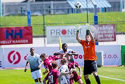 ElvisDzafic of NK Triglav Kranj during football match between NK Triglav Kranj and NK Ankaran Hrvatini in Round #28 of Prva Liga Telekom Slovenije 2017/18, on April 22, 2018 in Sports park Kranj, Kranj, Slovenia. Photo by Ziga Zupan / Sportida