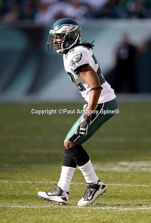 Philadelphia Eagles cornerback Asante Samuel (22) drops back in pass coverage during the NFL week 6 football game against the Atlanta Falcons on Sunday, October 17, 2010 in Philadelphia, Pennsylvania. The Eagles won the game 31-17. (©Paul Anthony Spinelli)