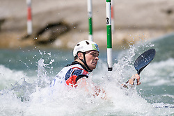 Bradley FORBES-CRYANS of Great Britain during the Kayak Single (MK1) Mens Semi Final race of 2019 ICF Canoe Slalom World Cup 4, on June 30, 2019 in Tacen, Ljubljana, Slovenia. Photo by Sasa Pahic Szabo / Sportida