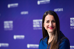Laura Laltrello, Vice President and General Manager, Datacenter Group Services, Lenovo speaks during the opening session of the Women's Forum Global Meeting in Paris on November 15, 2018. Photo by Raphaël Lafargue/ABACAPRESS.COM