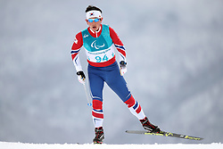Korea's Sanghyeon Kwon during a training session at the Alpensia Biathlon Centre at the PyeongChang Olympic Stadium in South Korea
