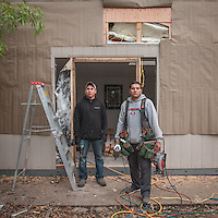 "Eduardo and Carlos work on a small construction site in Calistoga    ""I just quite my construction job...after 17 years, I have decided to go out on my own...I should have done this a long time ago.""  -Edwardo"