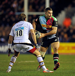 Nick Easter of Harlequins in possession - Photo mandatory by-line: Patrick Khachfe/JMP - Mobile: 07966 386802 17/01/2015 - SPORT - RUGBY UNION - London - The Twickenham Stoop - Harlequins v Wasps - European Rugby Champions Cup