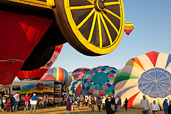 """Great Reno Balloon Race 5"" - The 2011 Great Reno Balloon Race balloons photographed from a hot air balloon."