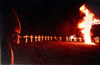 ku klux klan rally in Connecticut USA, in the 1970's