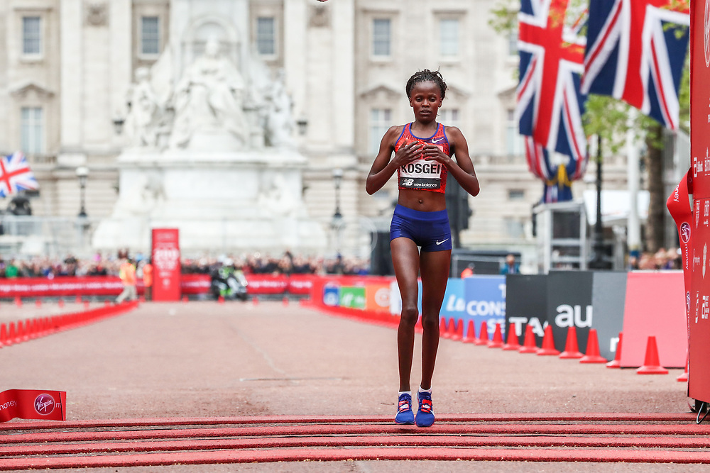 Brigid Kosgei of Kenya wins London Marathon in 2:18:20