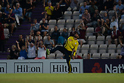 Rilee Rossouw of Hampshire celebrates taking a catch to dismiss Eoin Morgan of Middlesex during the Vitality T20 Blast South Group match between Hampshire County Cricket Club and Middlesex County Cricket Club at the Ageas Bowl, Southampton, United Kingdom on 20 July 2018. Picture by Dave Vokes.