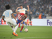 Koke of Atletico Madrid attacking during the Europa League Final match between Olympique de Marseille and Atletico Madrid at Orange Velodrome, Marseille, France on 16 May 2018. Picture by Ahmad Morra.