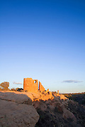 350310-1003 ~ Copyright: George H. H. Huey ~ The Ancestral Pueblo ruin of Hovenweep Castle, Hovenweep National Monument, Utah/Colorado.
