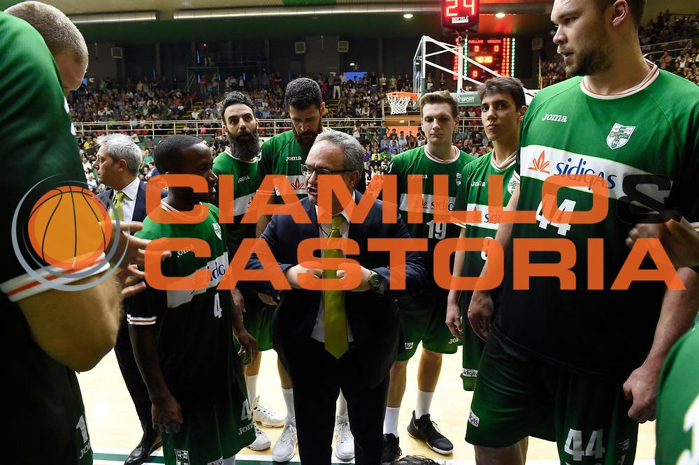 Sacripanti Stefano<br /> Sidigas Avellino - Umana Reyer Venezia<br /> Lega Basket Serie A 2016-2017<br /> Playoff Semifinale Gara 6<br /> Avellino 05/06/2017<br /> Foto Ciamillo-Castoria