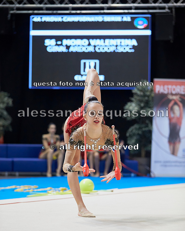 Valentina Moro from Iris team during the Italian Rhythmic Gymnastics Championship in Padova, 25 November 2017.