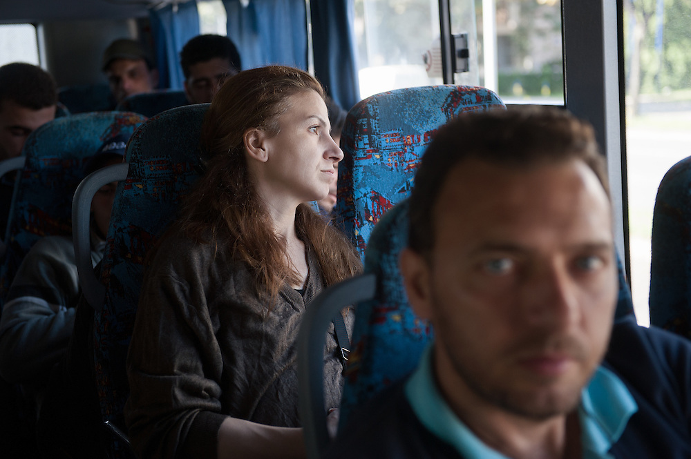 Morning, Monday 14th of September 2015. On the bus to Kanisha. Aysha looks at the pretty villages of Vojvodina. The bus is a local one and stops in many villages on the way, so it takes double the time to go to the border. After 3 hours Aysha is start getting very worried.