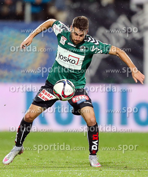 23.09.2015, Keine Sorgen Arena, Ried, AUT, OeFB Samsung Cup, SV Josko Ried vs RZ Pellets WAC, 2. Runde, im Bild Manuel Gavilan (SV Josko Ried) // during OeFB Cup, 2nd round Match between SV Josko Ried and RZ Pellets WAC at the Keine Sorgen Arena, Ried, Austria on 2015/09/23. EXPA Pictures © 2015, PhotoCredit: EXPA/ Roland Hackl