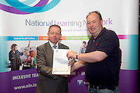 Liam Thomas McLoughlin who received a FETAC level 4 Certificate in Horticulture Science  Safe Horticulture practice from Minister of State for Training & Skills at the department of Education and Science Ciaran Cannon TD at the National Learning Network, Galway Certification Ceremony at the Menlo Park Hotel. Photo:Andrew Downes.