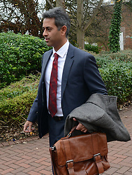 © Licensed to London News Pictures.28/11/2013. London, UK.Rahul Gajjar, finance director for Charles Saatchi leaves the Isleworth Crown Court in London..Photo credit : Peter Kollanyi/LNP