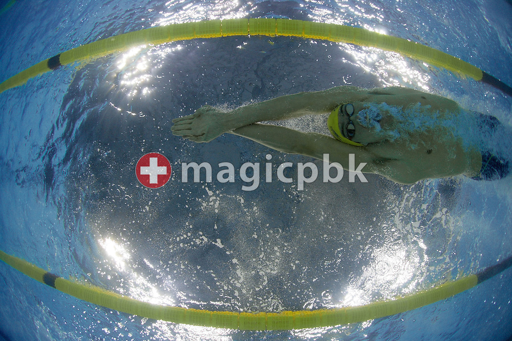 Christian SPRENGER of Australia swims the Breaststroke leg of the men's 4x100m Medley Relay heat during day five of the 8th FINA World Swimming Championships (25m) held at Qi Zhong Stadium April 9th, 2006 in Shanghai, China. (Photo by Patrick B. Kraemer / MAGICPBK)