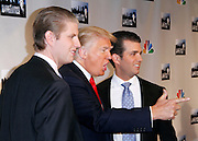 """Eric Trump, Donald Trump Donald Trump Jr attend the """"All-Star Celebrity Apprentice"""" press conference at Jack Studios in New York City, New York on October 12, 2012."""