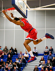 Justin Gray of Bristol Flyers slam dunks - Photo mandatory by-line: Robbie Stephenson/JMP - 31/03/2019 - BASKETBALL - Cheshire Oaks Arena - Ellesmere Port, England - Cheshire Phoenix v Bristol Flyers - British Basketball League Championship