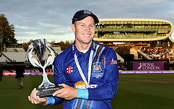 Gloucestershire's Geraint Jones with The Royal London One Day Trophy - Mandatory byline: Robbie Stephenson/JMP - 07966 386802 - 19/09/2015 - Cricket - Lord's Cricket Ground - London, England - Gloucestershire CCC v Surrey CCC - Royal London One-Day Cup Final