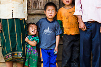 Wa Meng Ha's surviving children at their home in Khon Kahndone Village, Xieng Khouang province, Laos.