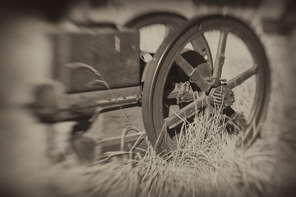 Rusted Iron Engine - Bodie, CA - Lensbaby - Sepia Black & White