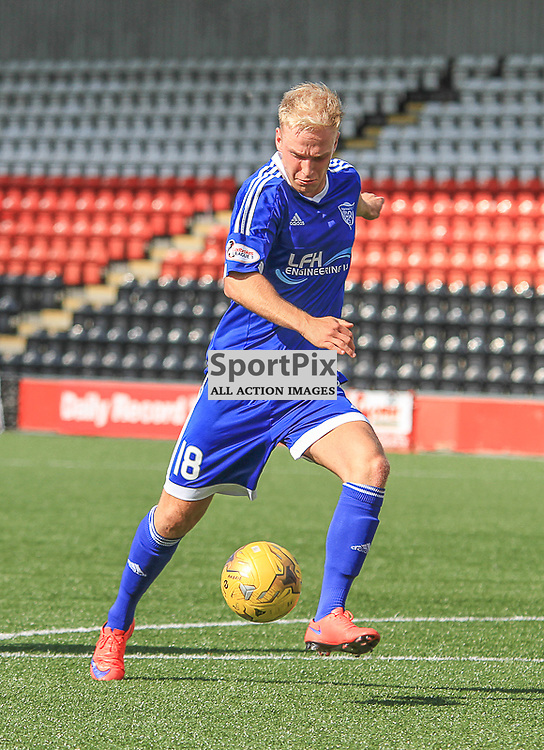 Airdrieonians V Peterhead  Scottish League One 29 August 2015; Peterhead's Jordon Brown during the Airdrieonians V Peterhead Ladbrokes Scottish League One match played at Excelsior Stadium, Airdrie.