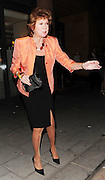 28.APRIL.2010. LONDON<br /> <br /> CILLA BLACK LEAVING CIPRIANI'S RESTAURANT IN MAYFAIR.<br /> <br /> BYLINE: EDBIMAGEARCHIVE.COM<br /> <br /> *THIS IMAGE IS STRICTLY FOR UK NEWSPAPERS AND MAGAZINES ONLY*<br /> *FOR WORLD WIDE SALES AND WEB USE PLEASE CONTACT EDBIMAGEARCHIVE - 0208 954 5968*