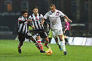 Curtis Weston Barnet FC midfielder (8) and Grimsby Town midfielder Brandon Comley (26)  during the EFL Sky Bet League 2 match between Grimsby Town FC and Barnet at Blundell Park, Grimsby, United Kingdom on 12 November 2016. Photo by Ian Lyall.