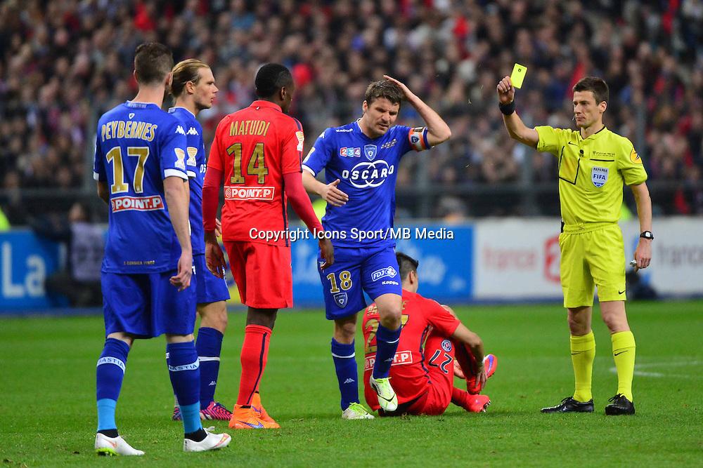 Yannick CAHUZAC / Benoit BASTIEN    - 11.04.2015 -  Bastia / PSG - Finale de la Coupe de la Ligue 2015<br />Photo : Dave Winter / Icon Sport
