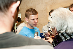 Roman Bezjak at the reception of Slovenian footballers before going on friendly match in Algeria, on 3rd March 2014, in Brdo pri Kranju, Slovenia. Photo by Urban Urbanc / Sportida.com