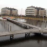 Nieuwe Haven Huizen, lege steigers