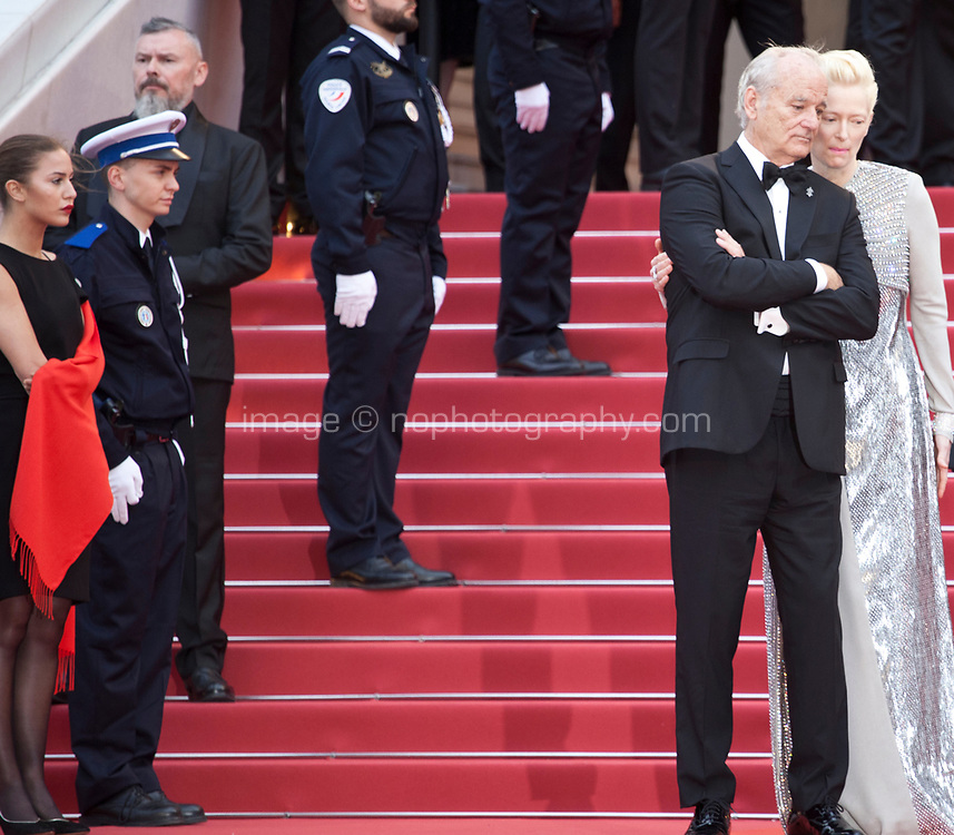 Bill Murray and Tilda Swinton at the Opening Ceremony and The Dead Don't Die gala screening at the 72nd Cannes Film Festival Tuesday 14th May 2019, Cannes, France. Photo credit: Doreen Kennedy