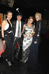 Left to right, CYNTHIA WOO, ANDY WONG, JOY VORRELLO and KALITA AL-SWAIDI  at Andy & Patti Wong's Chinese new Year party held at County Hall and Dali Universe, London on 26th January 2008.<br />