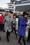 ZARA PHILLIPS; SARAH COHEN; AMANDA BUSH, The Cheltenham Festival Ladies Day. Cheltenham Spa. 11 March 2015