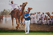 Oliver Fisher (ENG) on the 8th during Round 1 of the Oman Open 2020 at the Al Mouj Golf Club, Muscat, Oman . 27/02/2020<br /> Picture: Golffile | Thos Caffrey<br /> <br /> <br /> All photo usage must carry mandatory copyright credit (© Golffile | Thos Caffrey)
