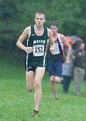James Snyder (152/George Mason University) The Lou Onesty Invitational Cross Country meet was hosted by the University of Virginia XC team and held at Panorama Farms near Charlottesville, VA on September 6, 2008.  Athletes endured rain and wind from Tropical Storm Hanna during the race.