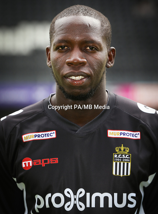Charleroi's Christophe Diandy pictured during the 2015-2016 season photo shoot of Belgian first league soccer team Sporting de Charleroi, Tuesday 14 July 2015 in Charleroi.