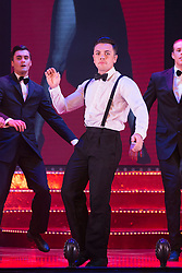 "© Licensed to London News Pictures. 17/06/2015. London, UK. Ray Quinn performing. UK premiere of ""Judy - The Songbook of Judy Garland"" - a show celebrating the classic songs of Judy Garland - opens at the New Wimbledon Theatre, London before a UK tour. The show runs from 16 to 20 June 2015. Photo credit : Bettina Strenske/LNP"