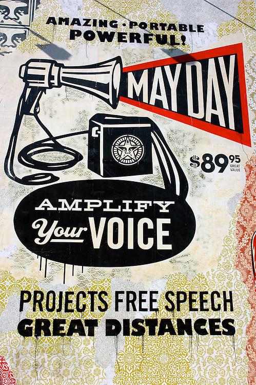 Shepard Fairey May Day mural