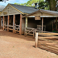Barns and Blacksmith at Churchill Island Heritage Farm near Phillip Island, Australia<br />