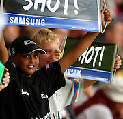 Young fans cheer for the Black Caps.<br /> One-day International Cricket Match. New Zealand v England. Westpac Stadium, Wellington, New Zealand. Saturday 9 January 2008. Photo: Dave Lintott/PHOTOSPORT