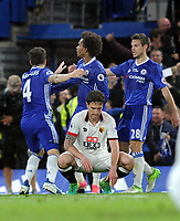 Football - 2016 / 2017 Premier League - Chelsea vs. Watford<br /> <br /> A dejected Daryl Janmaat of Watford after Chelsea's winning goal by Cesc Fabregas (4) at Stamford Bridge.<br /> <br /> COLORSPORT/ANDREW COWIE