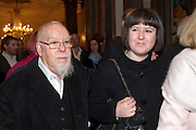 SIR PETER BLAKE; ROSE BLAKE, Opening of David Hockney ' A Bigger Picture' Royal Academy. Piccadilly. London. 17 January 2012