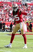 Nov 25, 2018; Tampa, FL, USA; San Francisco 49ers cornerback Richard Sherman (25) against the Tampa Bay Buccaneers at Raymond James Stadium. The Buccaneers beat the 49ers 27-9. (Steve Jacobson/Image of Sport)