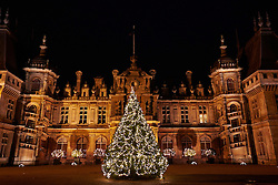 © Licensed to London News Pictures.  08/11/2012. LONDON, UK. General view of the Christmas decorations at Waddesdon Manor. The annual exhibition opens to the public tomorrow.  Photo credit :  Cliff Hide/LNP